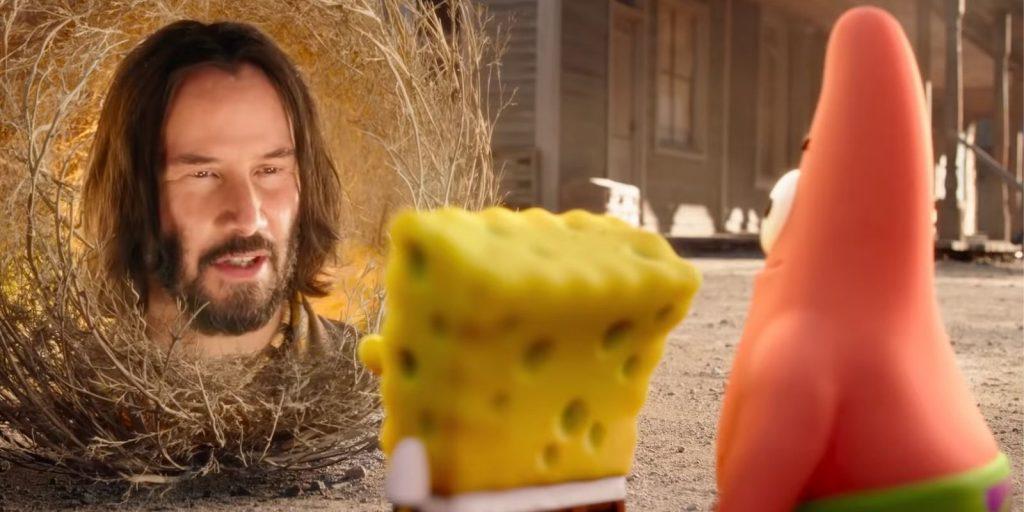 keanu reeves in spongebob movie